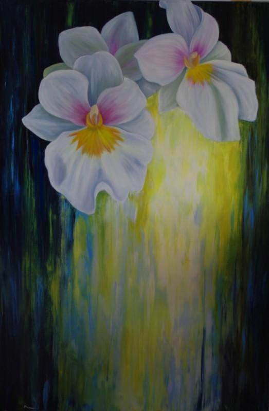 La lumiere nait des fleurs 60 X 40